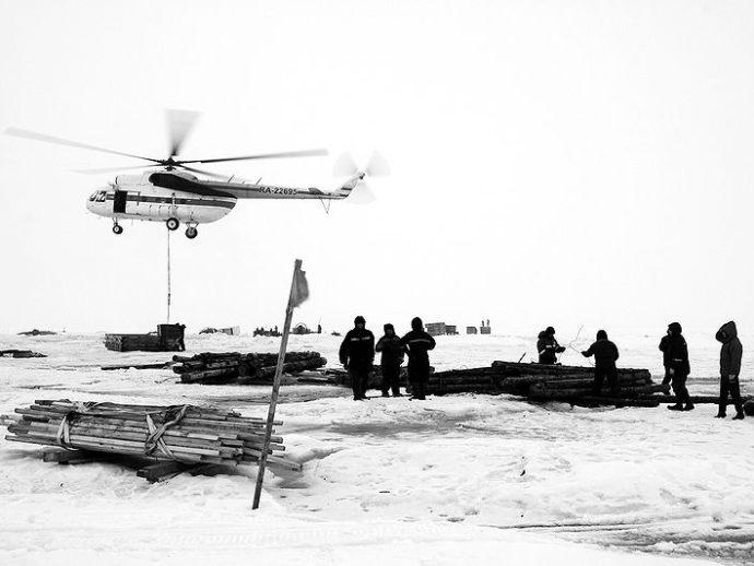 Работа с вертолетом МИ-8