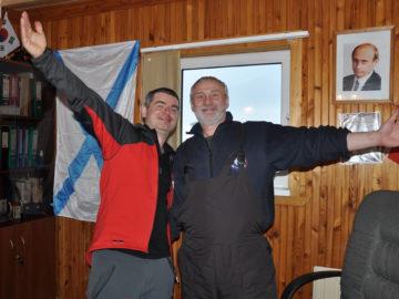 С начальником польской станции Збигневом