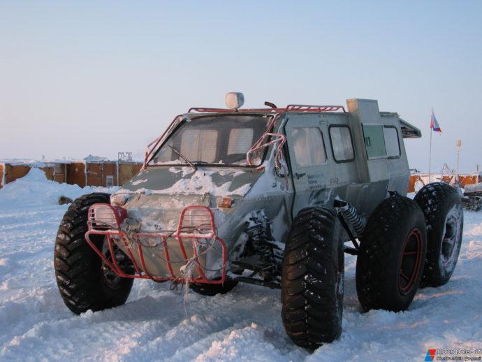 Лопасня - колесный снегоболотоход