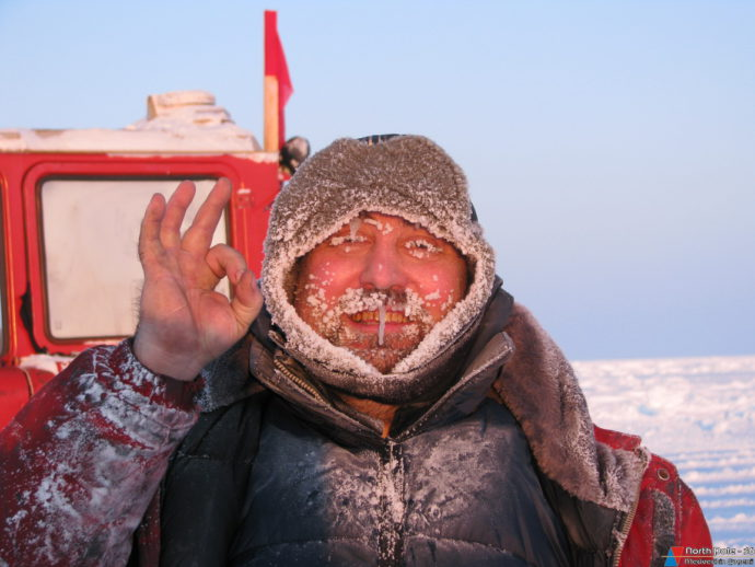 Суровое лицо полярника