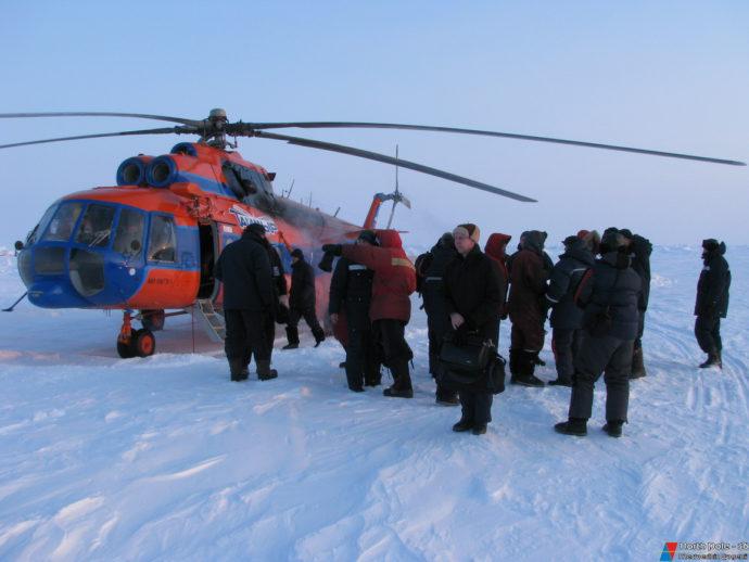 Прибытие вертолета с Большой Земли