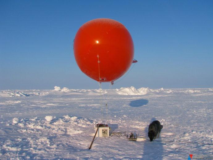 Аэростат для подъема датчиков пульсаций скорости ветра