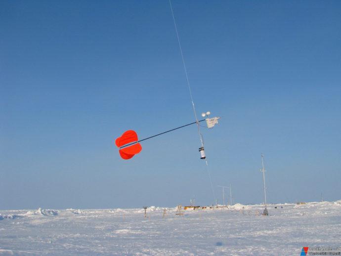 Датчики для измерения пульсаций скорости ветра, крепятся к аэростату