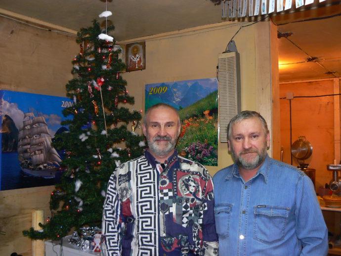 С А.Лугининым у новогодней елочки