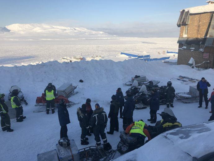 Departure from Barentsburg